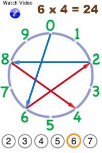 Wheel Math app Sixes at 24