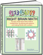 Right Brain Math book by Tom Biesanz aka MisterNumbers