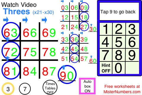 math worksheet : right brain math an ez way to learn numbers » waldorf : Tic Tac Toe Math Worksheets